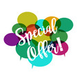 special offer on white background flat style vector image vector image
