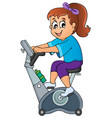 sport and gym topic image 1 vector image
