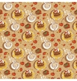 sweet time seamless background vector image vector image
