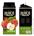 Template Packaging Design Apple Juice vector image vector image