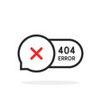 thin line 404 error bubble icon vector image vector image
