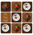 Tic-Tac-Toe of ice cream and brownie vector image