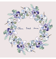 Watercolor floral wreath hand drawn flower frame vector image vector image