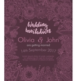 Wedding invitation with hand drawn flowers leaves vector image vector image