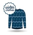 winter clothes design vector image vector image