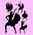 young passionate woman dancing flamenco silhouette vector image vector image