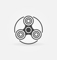 fidget spinner simple icon vector image