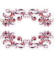 Floral elements using the Celtic ornament over vector image