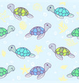 turtles background vector image