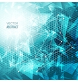 3D Abstract Business Background with Triangles vector image vector image