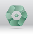 Abstract green hexagon icon vector image vector image