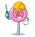 automotive cute lollipop character cartoon vector image vector image