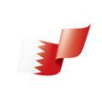 bahrain flag on a white vector image vector image