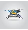 Ball symbol Volleyball Logo Badge Sport emblem vector image vector image