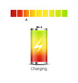 battery power energy icon battery level charge vector image vector image