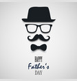 beautiful wish for fathers day template vector image vector image