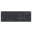 black computer qwerty keyboard isolated on white vector image vector image