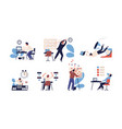bundle of people unable to organize their tasks vector image vector image