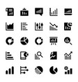 business charts and diagrams solid icons 3 vector image vector image