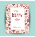 card with love words vector image