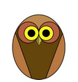 cartoon owl of brown color on a white background vector image vector image