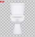 ceramic toilet classic model vector image