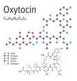 chemical formula of the oxytocin molecule