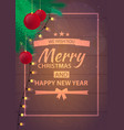 christmas poster background with fir twigs and vector image