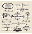christmas vintage design vector image vector image