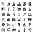 cleaning and house keeping service icon set solid vector image