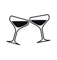 Clinking Glasses of Champagne vector image