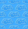 cute clouds seamless pattern design element can vector image