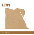 detailed map of egypt cut out of craft paper vector image