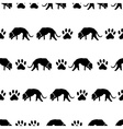 dog and footprints black shadows silhouette in vector image vector image