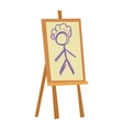 Easel art board vector image