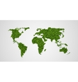 ecological concept green world map vector image