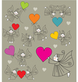 elves with hearts vector image vector image