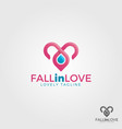 fall in love logo template vector image vector image