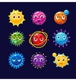 Fantastic planets with faces and emotions vector image vector image