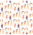 flat seamless pattern active sporty plus size girl vector image vector image