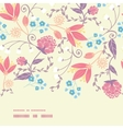 fresh field flowers and leaves horizontal vector image vector image