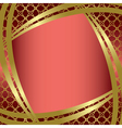 golden frame with center gradient vector image vector image