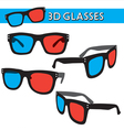 Graphic of retro 3d glasses vector | Price: 1 Credit (USD $1)