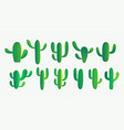 green cactus and succulent plant set design vector image