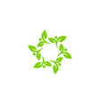 green people logo icon design vector image