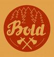hand drawn badge label banner logo bold vector image vector image