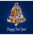 Happy New Year poster Gingerbread jingle bell