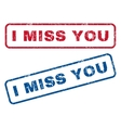 I Miss You Rubber Stamps vector image vector image