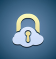 Icon cloud Data storage vector image vector image
