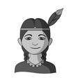 indianhuman race single icon in monochrome style vector image vector image